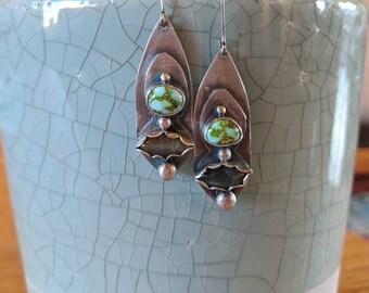 Turquoise & Labradorite Earrings