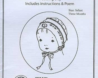 Hanky Bonnet Pattern / Bride's Handkerchief Bonnet / Instructions and Poem / Wedding Bonnet / Jeannie Baumeister /  The Old Fashioned Baby