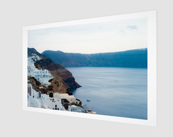 Santorini Hills by the Aegean Fine Art Print, 1:50 Limited Edition / black and white / photography / photo / home decor / decoration / wall