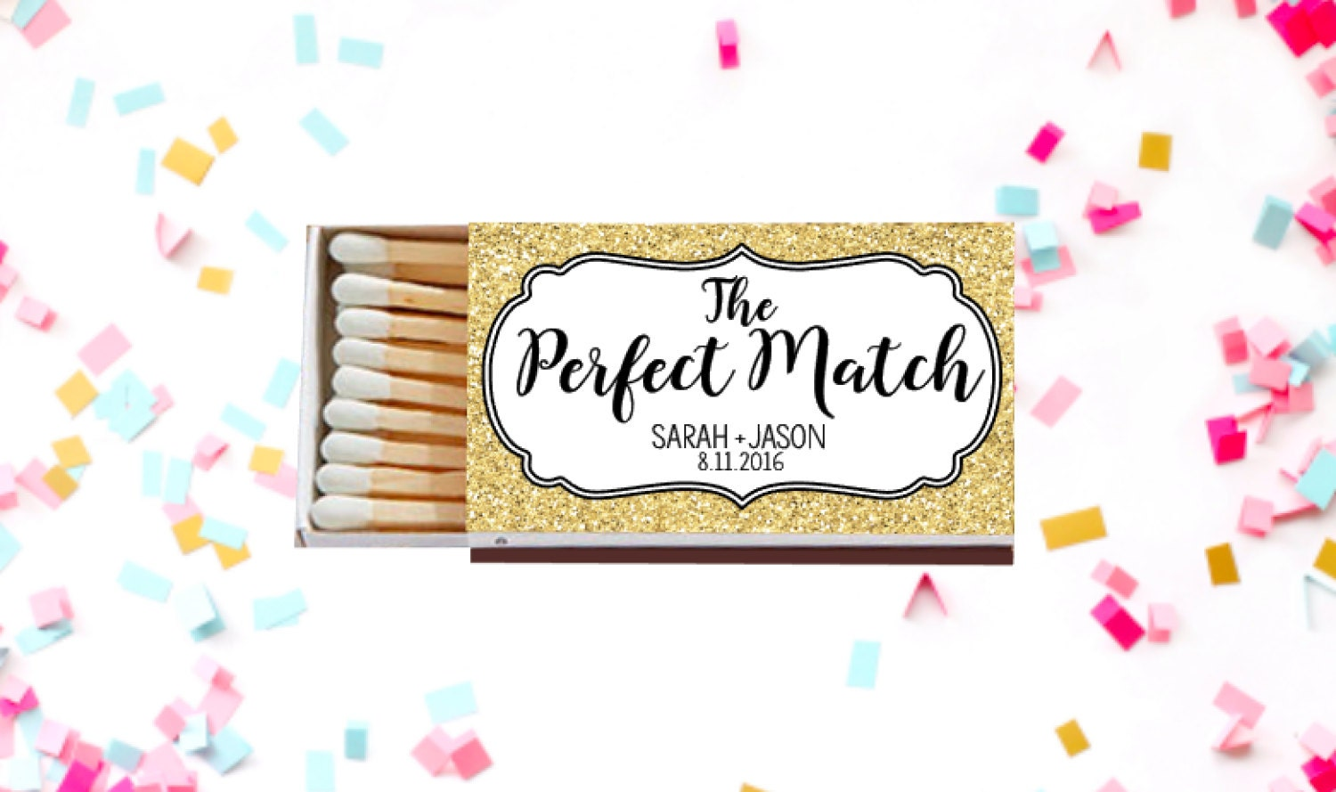 Personalized Matches Matchbox Wedding Favors Wedding