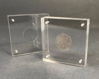 50p Perspex Coin Display, Beatrix Potter Collection Coins
