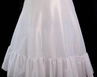 "White Victorian Petticoat, Adjustable Waist Sizes 24""-35"""