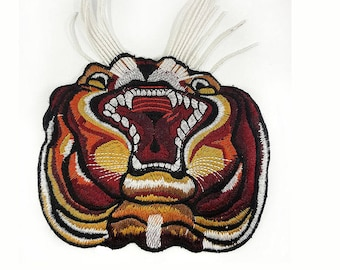 Embroidered Tiger Animal Patch Applique, Tiger Style Patch Applique