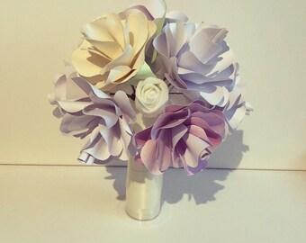 Unique Wedding Paper Flower Bouquet Vintage Wedding Bridesmaid Flower Girl