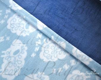 Fleece Toddler Baby Blanket 'ZZ Sheep' for Boys & Girls (30x40)