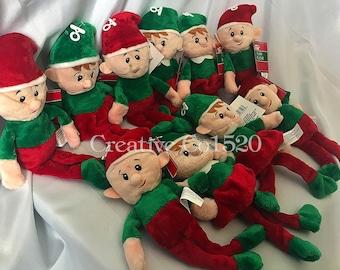 Set of 2 Personalized Plush Christmas Elves   Plush Christmas Elves   Personalized Plush Christmas Elf   Plush Christmas Elf   Christmas Elf