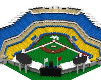 LA Dodger Stadium (2,500+ pieces), Brick Model
