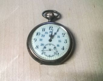 Old pocket watch Ceramic dial