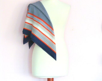 Vintage 1960's striped scarf / nautical / mod