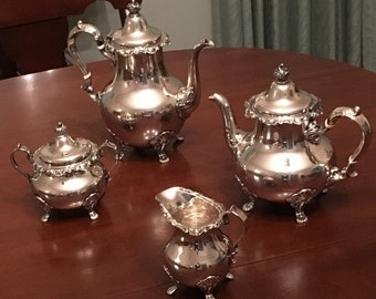 Alvin French Scroll Sterling Silver Tea Set