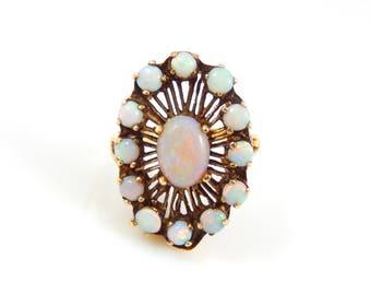 Opal Starburst Ring Vintage - 8208