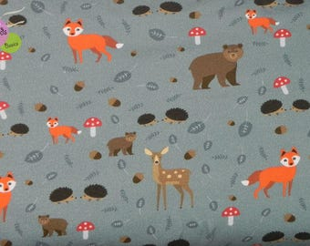 Sweat animals Forest Animals Sommersweat French Terry