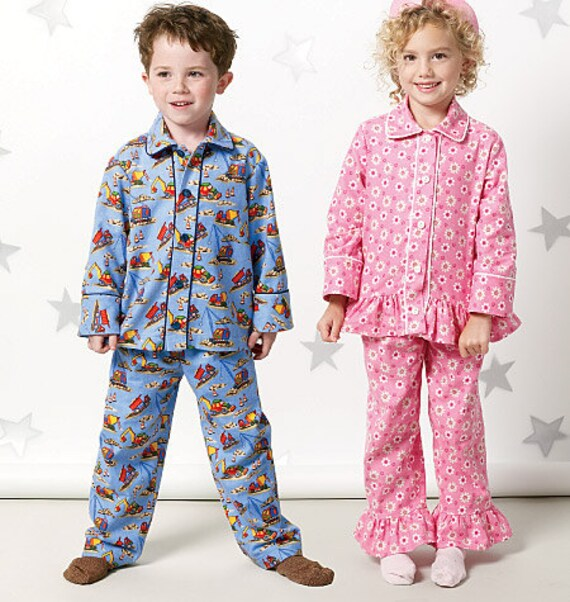 Child Pajamas Pattern Boys And Girls Pants Tops Pjs