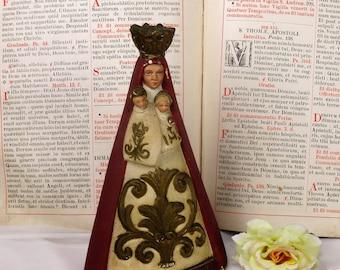 Statue Saint Anna Trinity Virgin Mary Infant Jesus Bottelare Collector Piece HTF