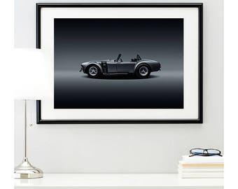Shelby Cobra Side Profile, automotive photography, automotive prints, car photography, car prints, american muscle, @richardlephoto