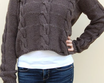 Three Cable Pullover V Neck Sweater Knitting Pattern