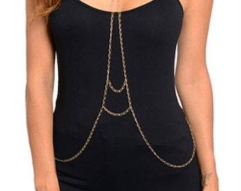 Gold Body Chain, Body Jewelry