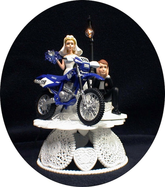 Yamaha Motorcycle Wedding Cake Topper