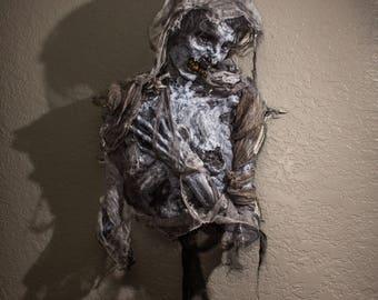 Mumie Torso, lebensgroße Prop (Halloween/Horror/Gothic/Friedhof/Leiche/Kopf/Mama/Ägyptisch)
