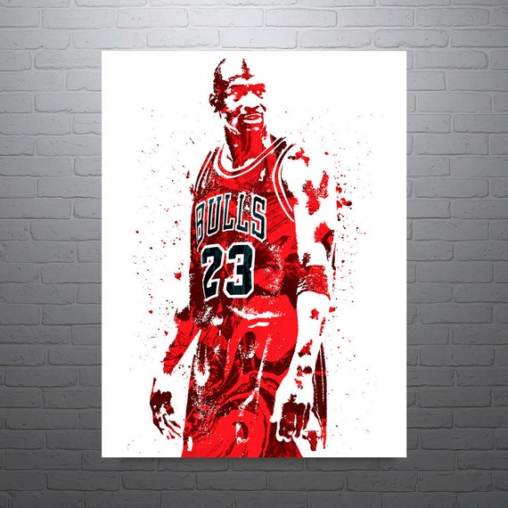 Michael Jordan Chicago Bulls Sports Art Print Basketball