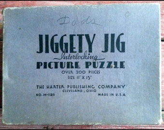 Jiggety Jig Picture Puzzle - Jigsaw Puzzle - By A Waterfall - 1930's