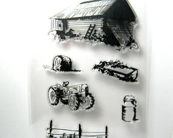 Farm Countryside Clear Stamp Set