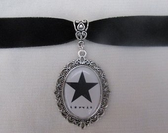 David Bowie Blackstar Logo Choker