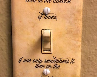 Happiness Quote Light Switch Plate *As seen on buzzfeed*