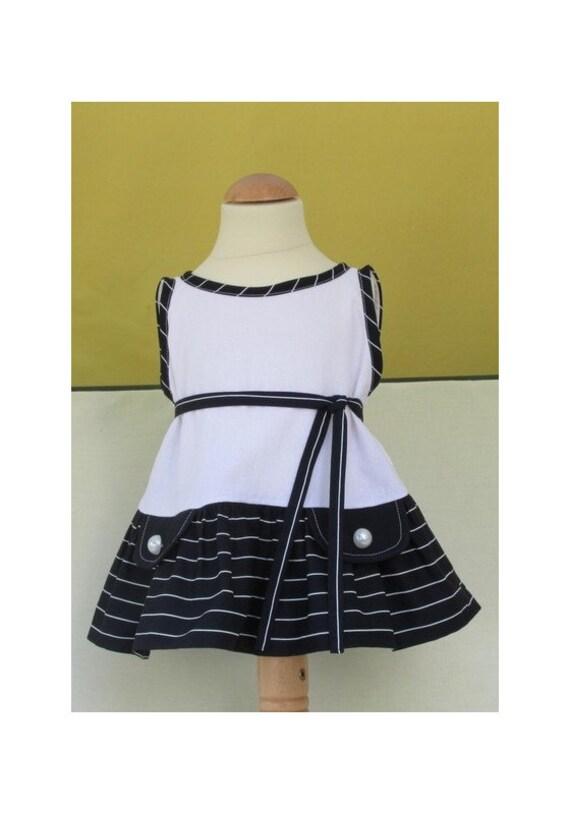 Simple baby dress sewing pattern Ruby Ruffle Dress PDF easy