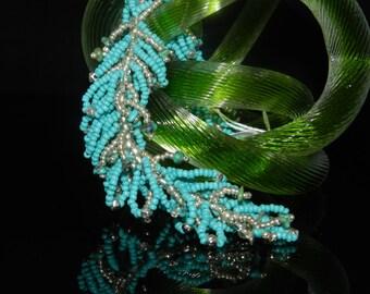 """CLEARANCE *FT82 Turquoise Fringe Bracelet, Size  7"""""""