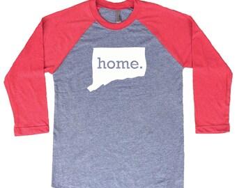 Homeland Tees Connecticut Home Tri-Blend Raglan Baseball Shirt