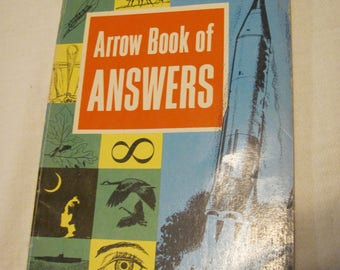 1961 Arrow Book of Answers Children's Vintage Book