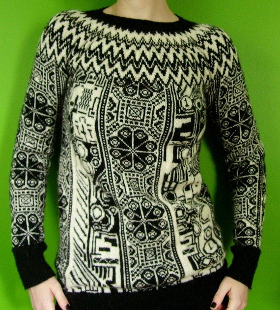 robot pixel mash-up fair isle sweater