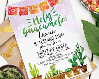 Holy Guacamole! Fiesta Invitation | Custom Event Invite | Editable Event Invitation PDF | Fiesta Cactus Theme | Instant Download Invitation