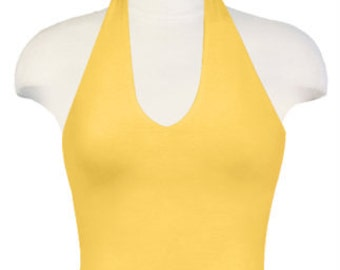 Ladies Halter Top Sleeveless Tank Womens Tank w bra Tie Top Back Cut Out Yoga Top