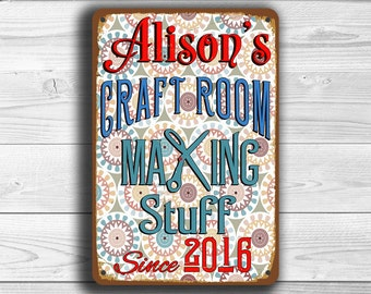 CUSTOM CRAFT ROOM Sign, Personalized Craft Room Sign, Vintage style Craft Room Sign, Customizable Signs, Craft Room Decor, Craft Room, Signs