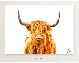 Highland Cow Print, Highland Cow, Scottish Art, Hairy Cow, Highland Cow Art, Art Print, Highland Cow Gift, Scottish Gift, Scottish Art
