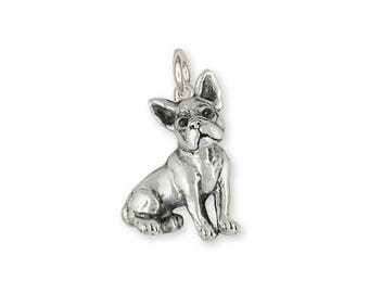 Boston Terrier Charm Jewelry Sterling Silver Handmade Dog Charm BT19-C