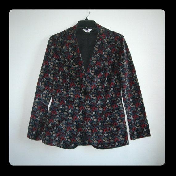 Very Levis women's Velvet Levi's Genuine Small Design Tapestry US Hippie Rare Cotton Size 70s Blazer~ 4FwxqZ4g5r