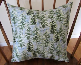 pine tree pillow cover