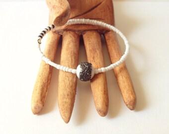 Eco Friendly Black and White Minimalist Bracelet