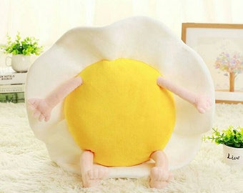 Plush toys, plush food toy, egg, poached eggs, stuffed plush, plush, baby shower, plushie, omlette, plush toy, plush play food.