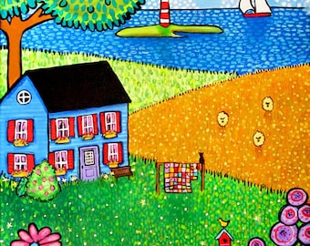 Three Sheeps to the Wind, Nova Scotia landscape print by Shelagh Duffett