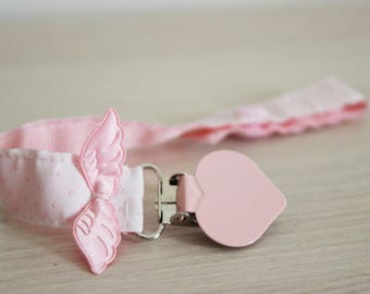 Pacifier clip girl, Pacifier clip, Baby wings, Pacifier holder, Soothie pacifier clip, dummy clip, paci clip, baby girl pacifier clip