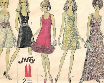 """Ein Fab Vintage Kleid Muster: Ärmellos, kragenlose Tag Kleid, Cocktailkleid, Abendkleid für Frauen - Größe 12, 34""""• Einfachheit Büste 8494"""
