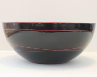 Large 9.5 inch Vintage Catherine Holm Saturn Ring Bowl -Norway Enamel-Mid Century Modern