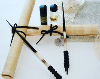 Porcupine Quill Writing Set