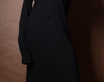 Jean Paul Gaultier Zip-Front Stretch Rayon Dress c. 2000
