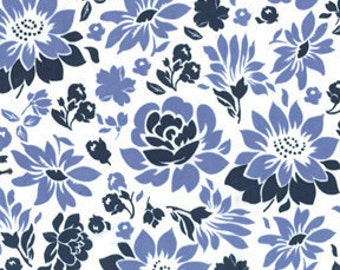 "SALE - Micheal Miller Fabrics""Secret Garden""  Midnight Picnic Flowers by Sandi Henderson"