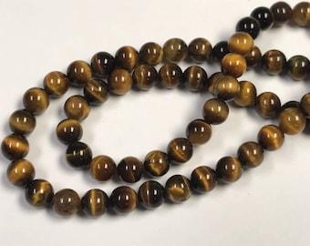 Vintage TIGEREYE AAA GRADE Beads 6mm 16 inch strand pkg1 rb17B